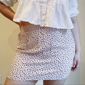 Heart mini skirt
